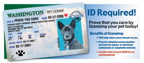 Pet Licensing Info - Wandermere Animal Hospital - Spokane, WA